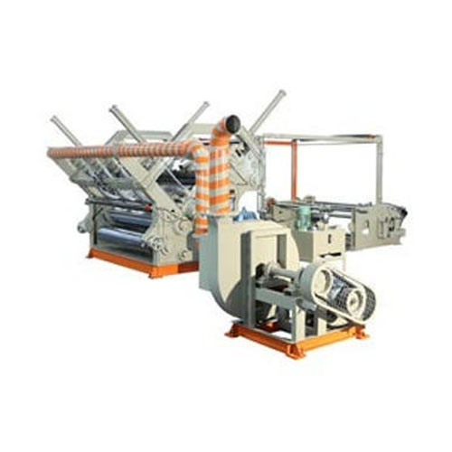 Corrugated Box Making Machine, Vertical Type Single Facer, Oblique